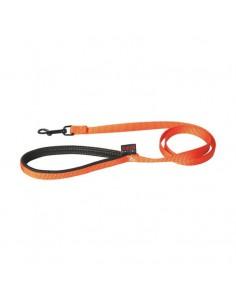 Correa para perro nylon naranja con empuñadura acolchada