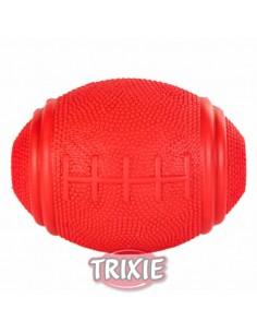 Juguete para perro, pelota de rugby con orificio para premios