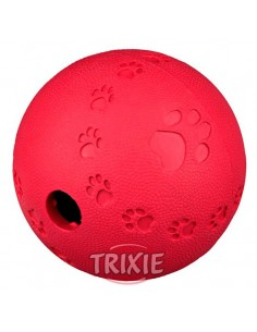 Juguete para perro, pelota redonda con laberinto interno y orificio para premios