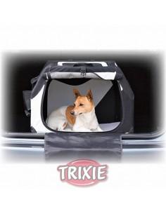 Transportín para perro en coche de nylon plegable