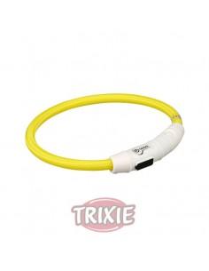 Collares para perros luminoso color amarillo con cargador USB