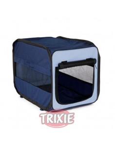 Caseta para perro desmontable en nylon, color azul