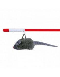 Juguete para gato caña con ratón