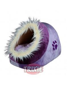 Cuna para gato con funda de peluche y cojín reversible modelo Minou
