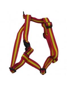 Arnes para perros nylon bandera de España de cinta 20 mm.
