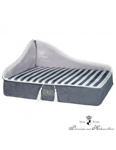 sofa para perro my princess color gris