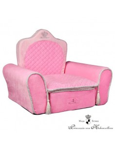 sofa para perro my princess color rosa
