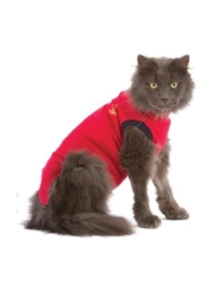 Camiseta protectora para gatos, pijama quirúrgico