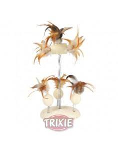 juguete para gato muelle con plumas