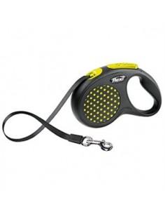 correa-perro-flexi-design-amarillo