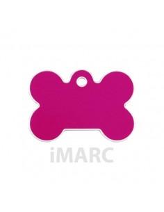 Placa identificativa para perro, hueso grande en colores