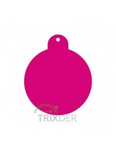 placa identificativa grabada perro redonda rosa