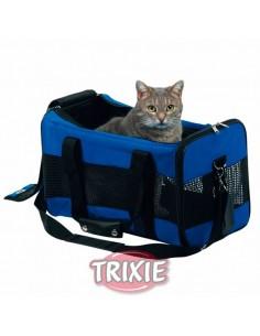 Bolso para gatos en neopreno azul modelo Jamia