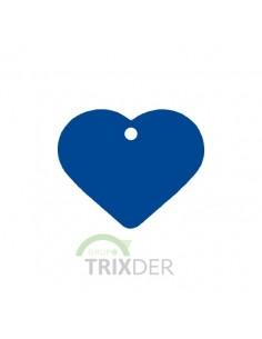 placa identificativa grabada perro corazon azul