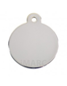 placa identificativa grabada perro redonda plata