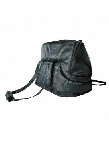 Bolso para transporte de perros en nylon negro modelo Riva