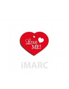 placa identificativa perro corazon rojo love