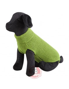 jersey para perro lana verde