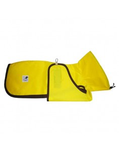 Impermeable para whippet color amarillo