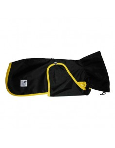 Impermeable para whippet color negro