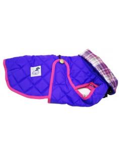 abrigo para perro impermeable morado