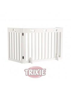 Barrera ajustable blanca para puertas y escaleras