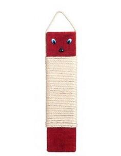 Rascador para gatos poste simple rojo