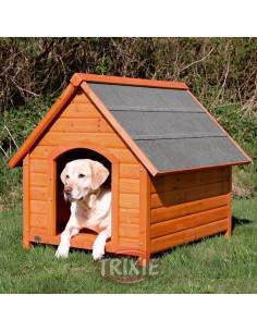 Caseta para perro en madera de pino, color natural