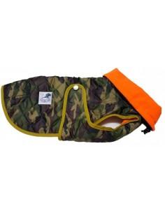abrigo impermeable acolchado perro camuflaje