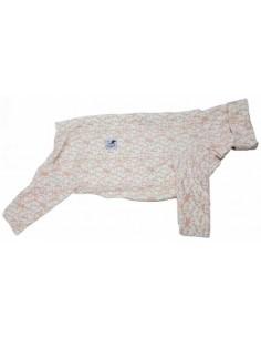 Pijama para galgo de felpa, con pinguinos rosa