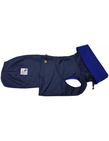 abrigo impermeable galgo azul marino