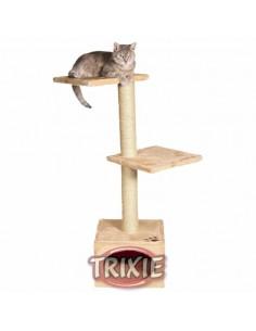 rascador para gato tres pisos beige