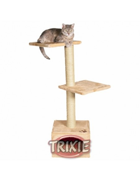 Rascador para gatos de tres pisos beige