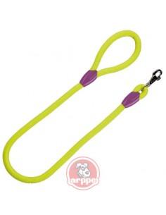 correa para perro cuerda verde fluor