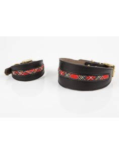 Collar para piccolo en piel de Be Two Buckingham Escoces