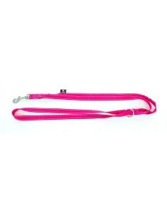 correa perro nylon rosa fluor