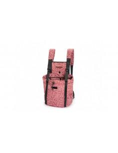 Mochila de paseo para llevar perro color granate