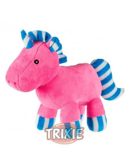 Peluche para perro modelo unicornio rosa