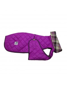 Ropa para perro - abrigo Impermeable Acolchado Galgo color fucsia