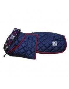 abrigo impermeable para galgo azul marino