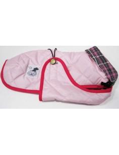 Abrigo Impermeable Acolchado para Piccolo rosa