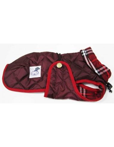 abrigo impermeable para piccolo granate