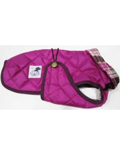 abrigo impermeable para piccolo fucsia