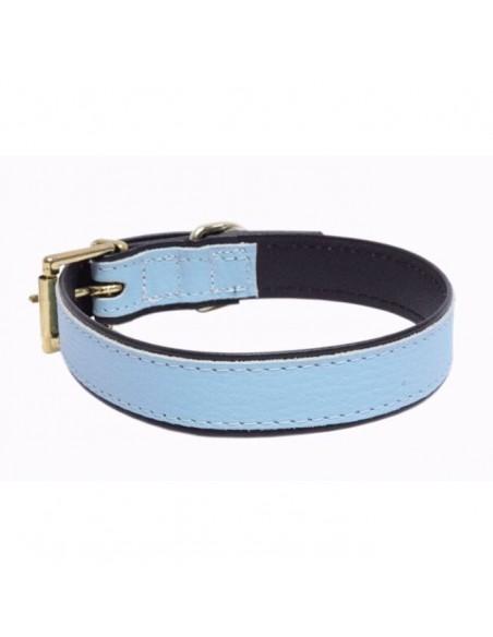 Collares para perros Piel Flor color azul o rojo