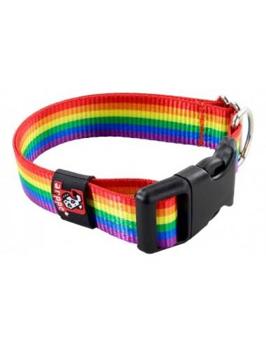collar perro arco iris