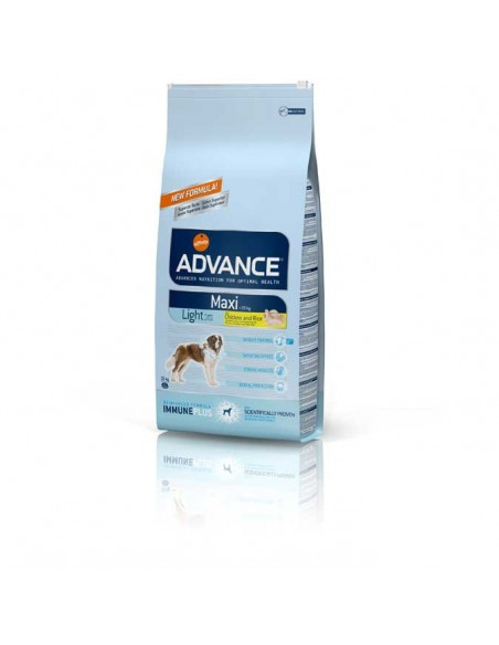 Comida para perros pienso advance MAXI LIGHT CHICKEN & RICE