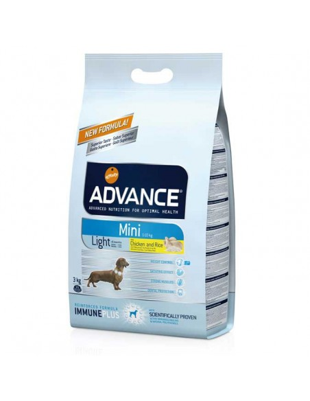 Comida para perros pienso advance MINI LIGHT CHICKEN & RICE