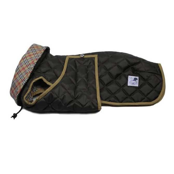 Abrigo acolchado marrón para perro