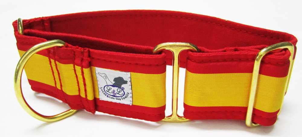 collar galgo bandera