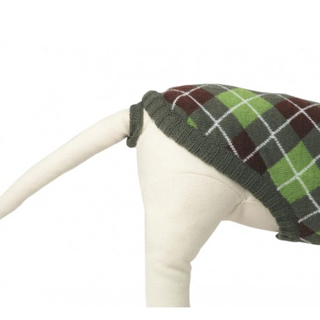 789aa291b493 jersey de punto para perro modelo rudolph de rayas rojas y blancas ...